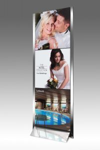 Freestand magnetic portable display systems